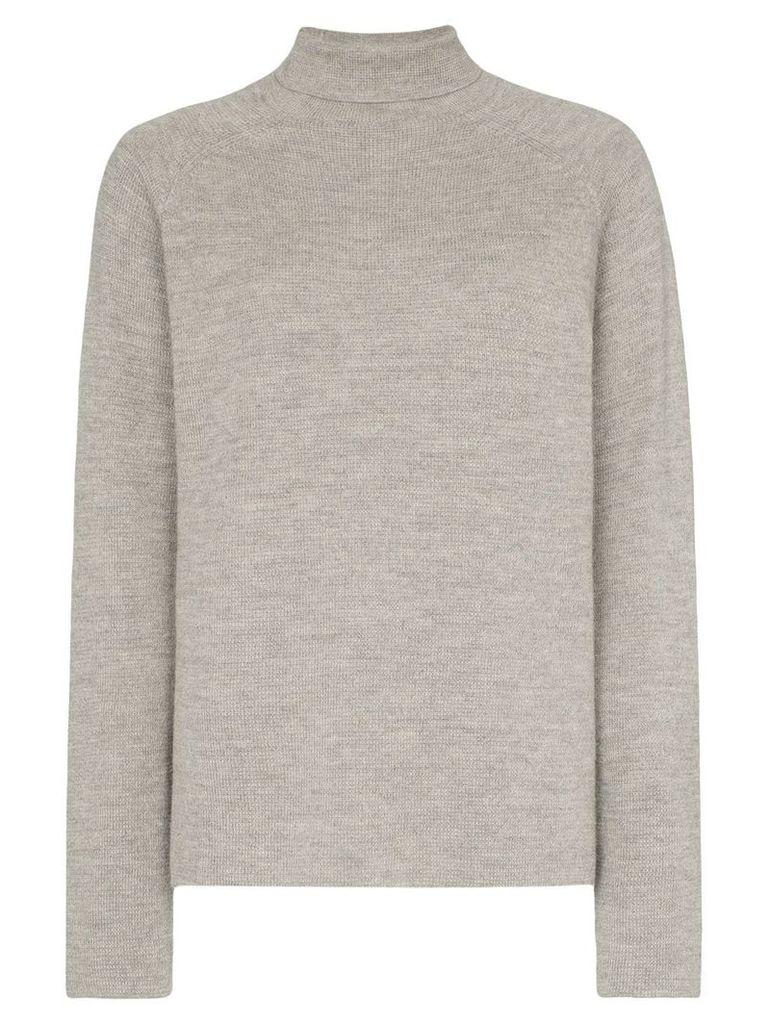 Carcel Milano alpaca wool turtleneck sweater - Grey