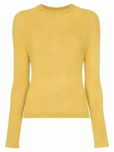 Carcel Crew neck alpaca wool sweater - Yellow