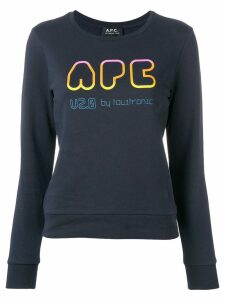 A.P.C. logo patch sweater - Blue