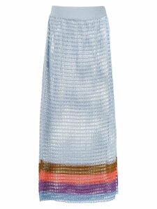 Cecilia Prado knit midi Bruna skirt - Blue