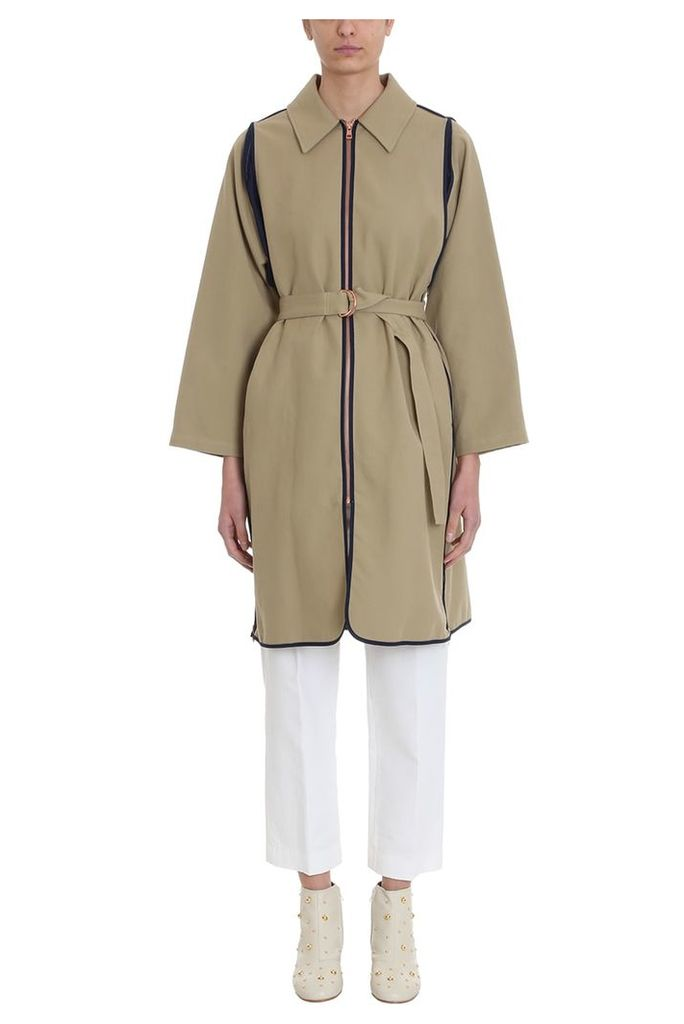See by Chloé Army Green Cotton Trench Coat