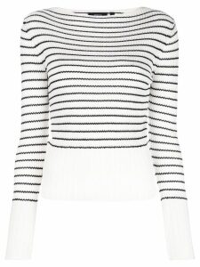 Theory striped knitted top - White