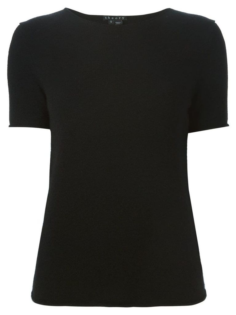 Theory short sleeve knit top - Black
