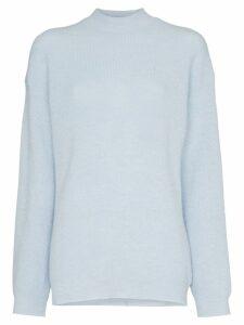 Nanushka Cloud high neck knitted top - Blue