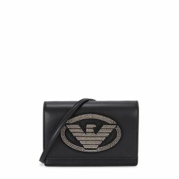 Emporio Armani Crystal-embellished Logo Cross-body Bag