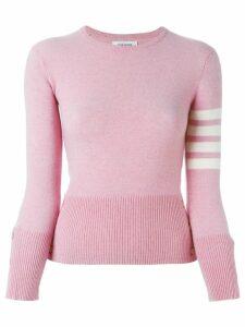 Thom Browne striped sleeve sweater - Pink