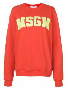 MSGM branded sweatshirt - Red