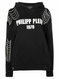 Philipp Plein lettering logo hoodie - Black