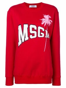 MSGM printed logo sweater - Red