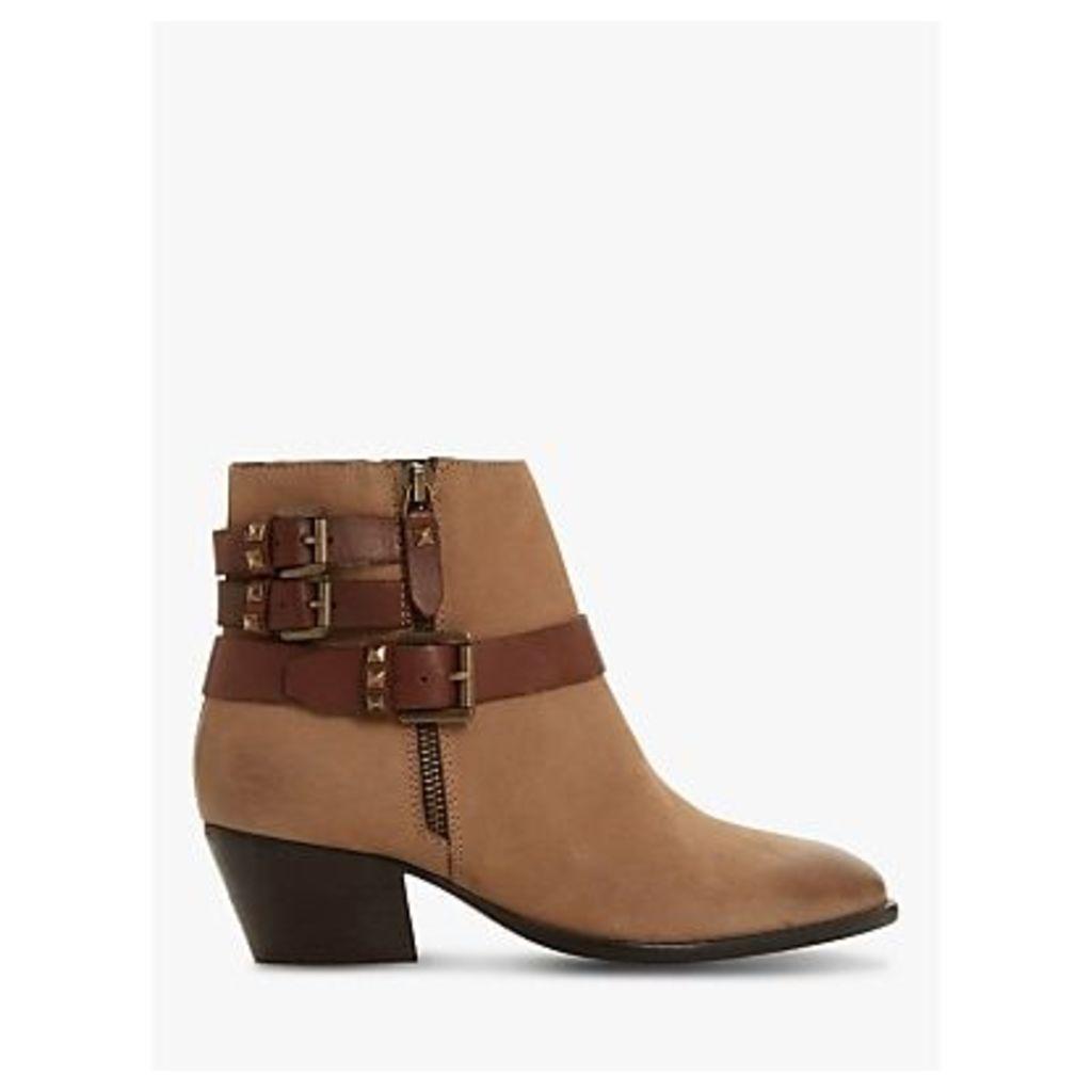 Bertie Priot Block Heel Cowboy Boots, Stone