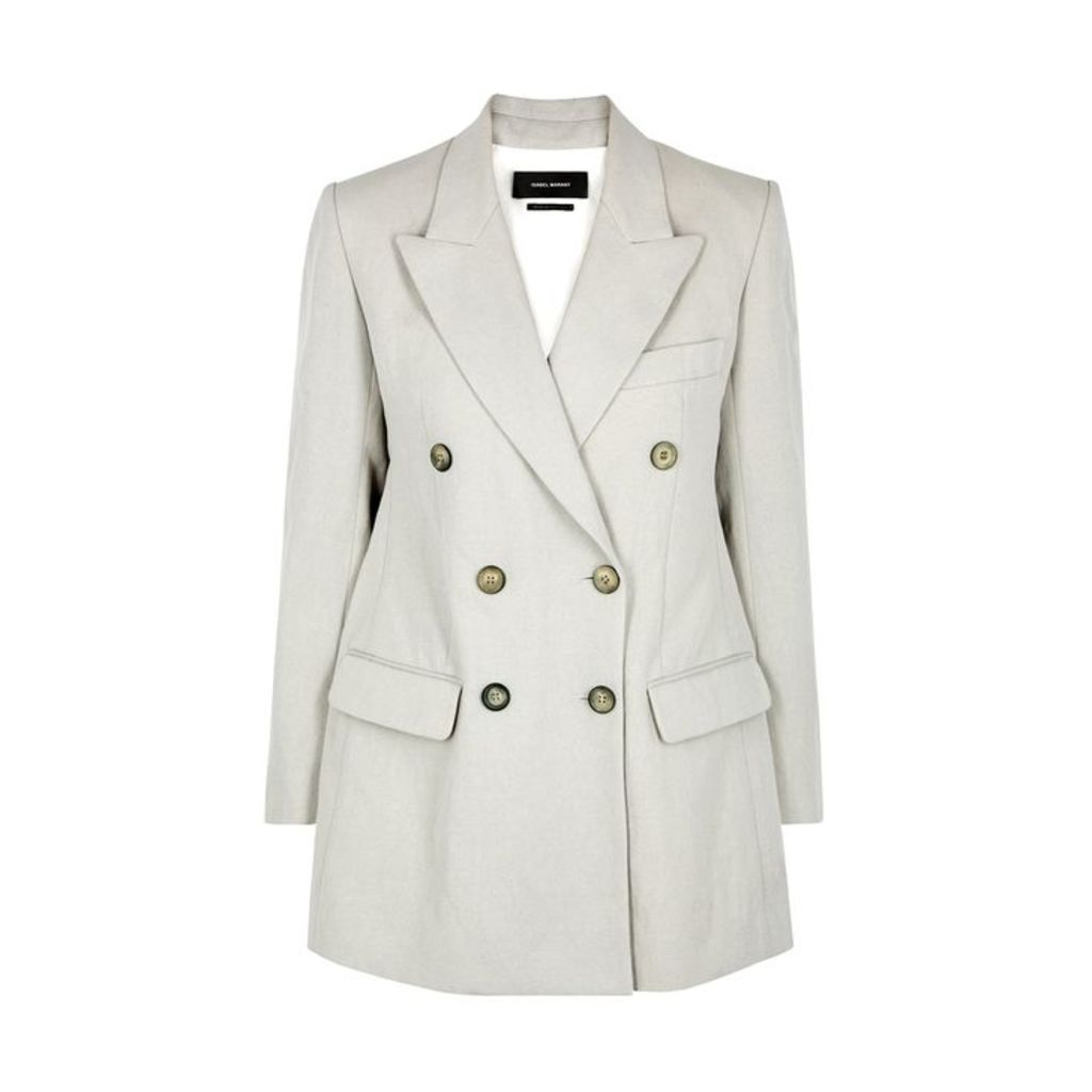 Isabel Marant Kleigh Pale Grey Cotton-blend Blazer