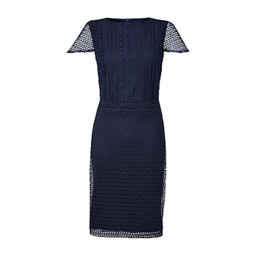 Lauren Ralph Lauren Lyonia Geometric Lace Dress, Lighthouse Navy