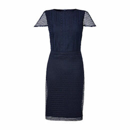 Lauren Ralph Lauren Lyonia Geometric Lace Dress, Lighthouse Navy