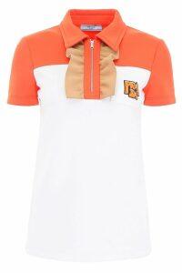 Prada Ruffled Jersey Polo Shirt