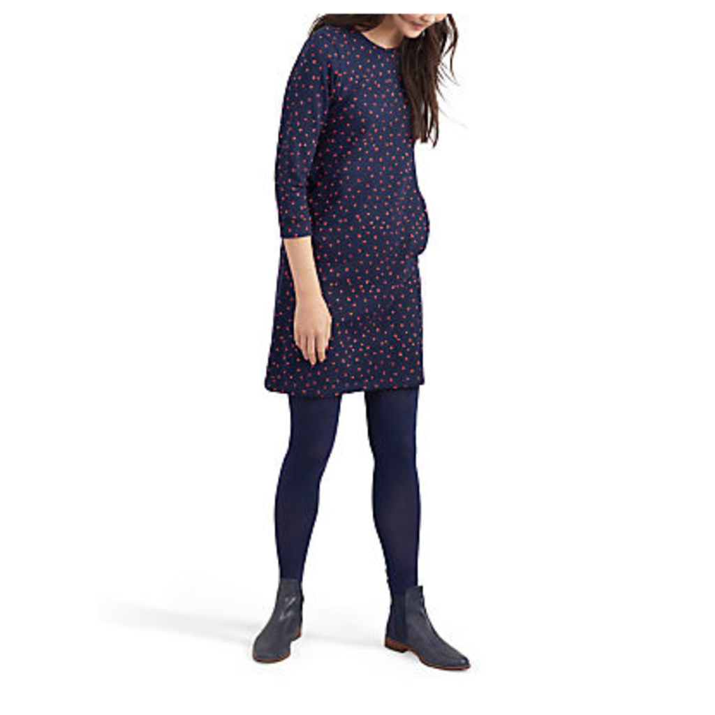Joules Valo Jersey Dress, Navy Heart