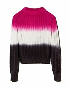 Veda Crema Dip-Dyed Cable Sweater