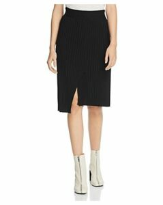 Atm Anthony Thomas Melillo Ribbed Merino-Wool Skirt