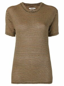 Isabel Marant Étoile striped fitted T-shirt - Yellow