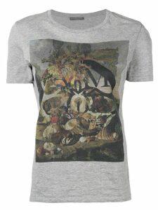 Alexander McQueen printed round neck T-shirt - Grey