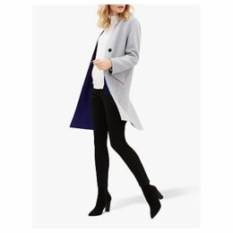 Jaeger Double Face Wool Coat, Grey