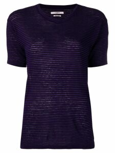 Isabel Marant Étoile striped fitted T-shirt - Purple