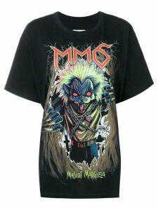 Mm6 Maison Margiela Zombie cat print T-shirt - Black