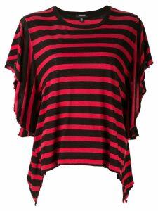 R13 Striped Flutter T-shirt - Red