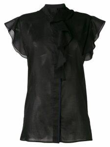 Victoria Victoria Beckham ruffled sleeve sheer blouse - Black