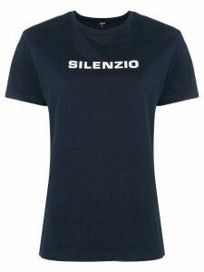 Aspesi Silenzio print T-shirt - Blue