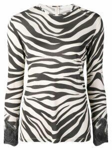 Chloé zebra print long-sleeve top - Neutrals