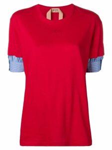 Nº21 short layered sleeve T-shirt