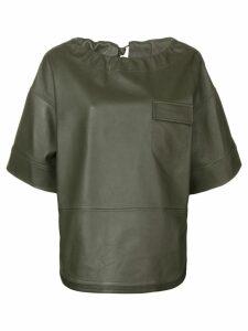Golden Goose short-sleeve oversized top - Green