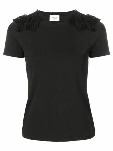 Dondup lace-detail fitted T-shirt - Black