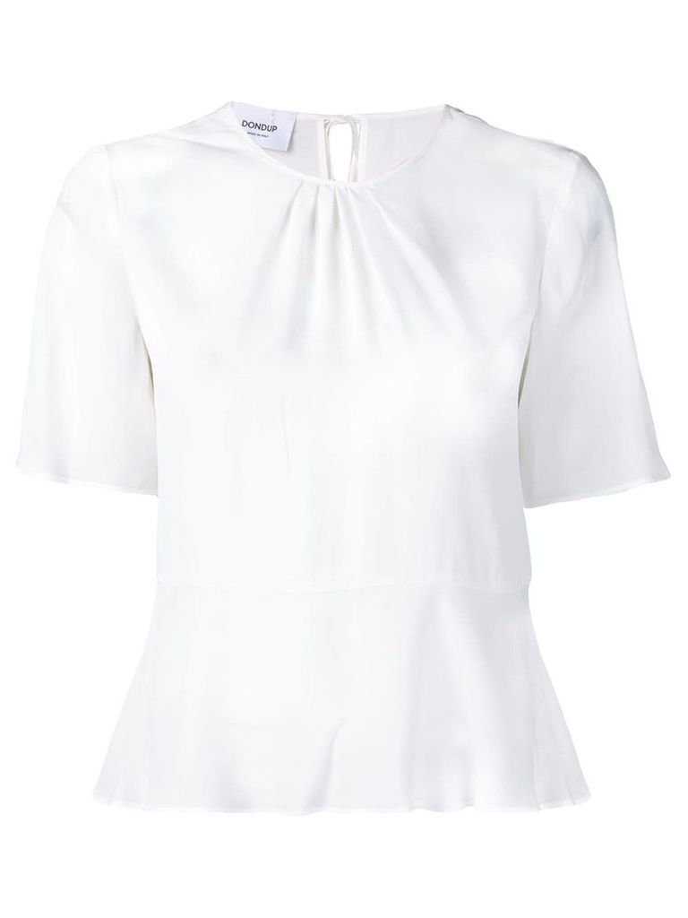 Dondup flared short-sleeve T-shirt - White