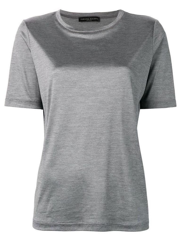 Fabiana Filippi bead detail T-shirt - Grey