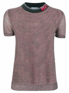 Prada mesh T-shirt - Pink