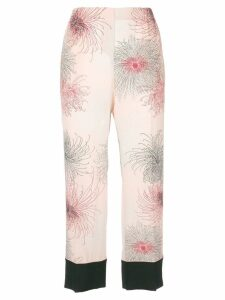 Nº21 printed cropped trousers - Pink