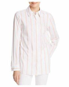 Lafayette 148 New York Velma Striped Cotton Shirt