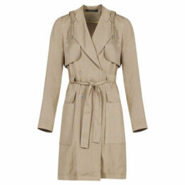 Mado Et Les Autres  Flowing trench  women's Trench Coat in Beige