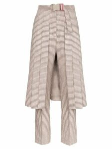 Fendi micro check skirt and wool trousers - Brown