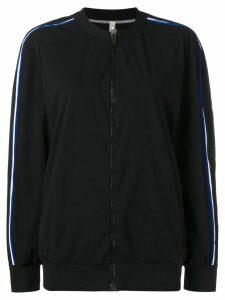 No Ka' Oi side stripe track jacket - Black