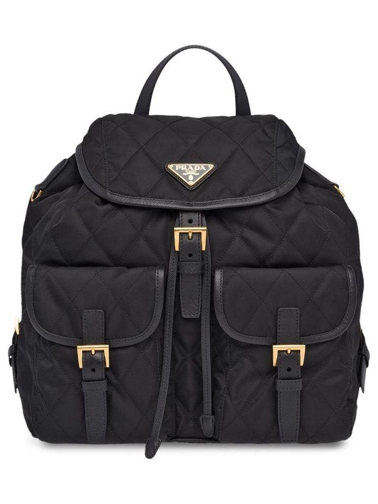 Prada Fabric Backpack - Black