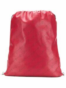 Stella McCartney monogram drawstring bag - Red