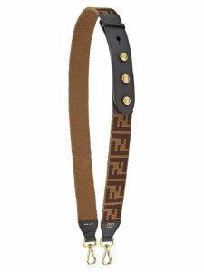 Fendi FF logo bag strap - Brown
