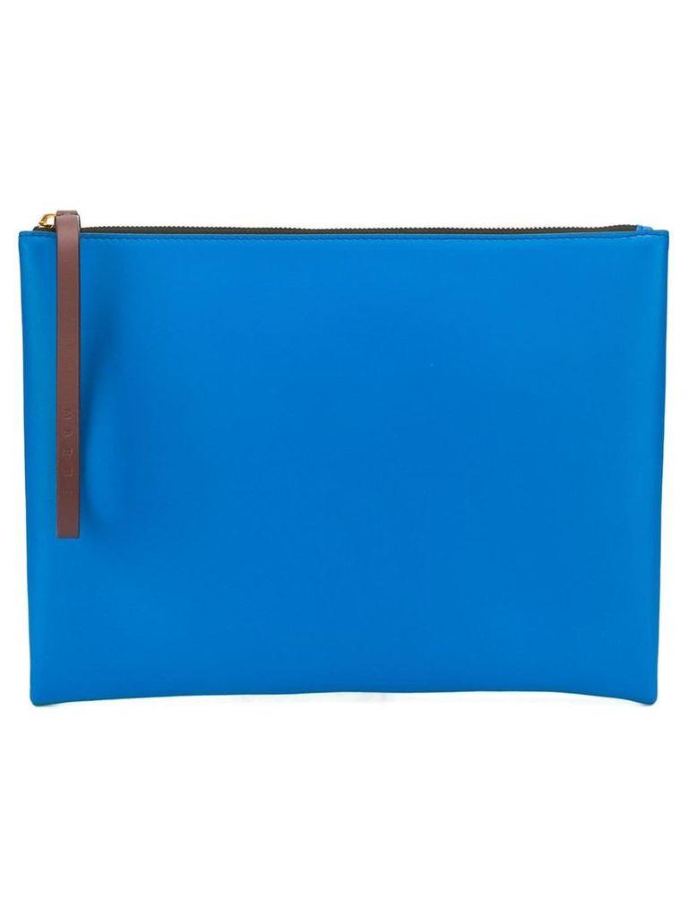 Marni colour-block clutch - Blue