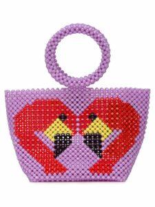 Delduca swan mini bag - Purple