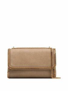 Stella McCartney brown Falabella gold-tone chain shoulder bag -