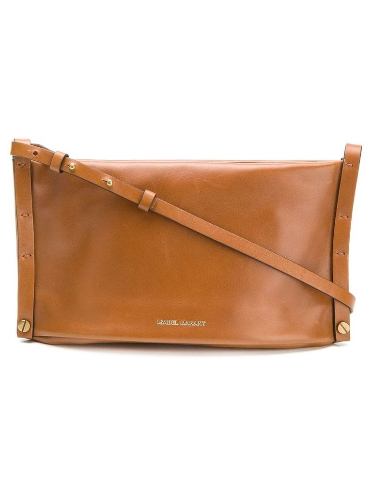 Isabel Marant top zipped shoulder bag - Brown