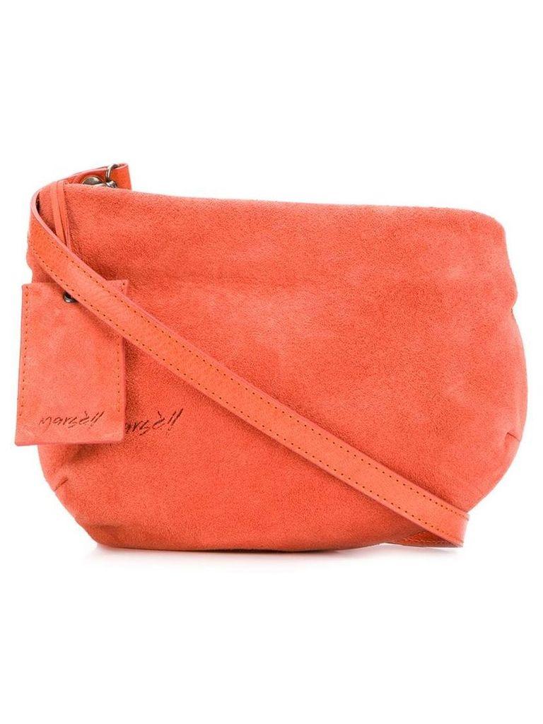 Marsèll distressed logo cross body bag - Orange