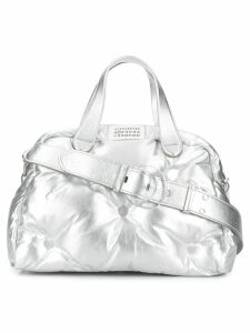 Maison Margiela large quilted tote - Grey